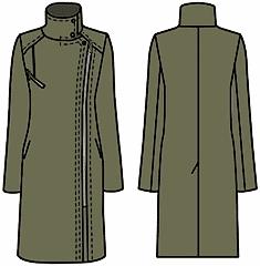 Выкройки пальто воротник стойкой
