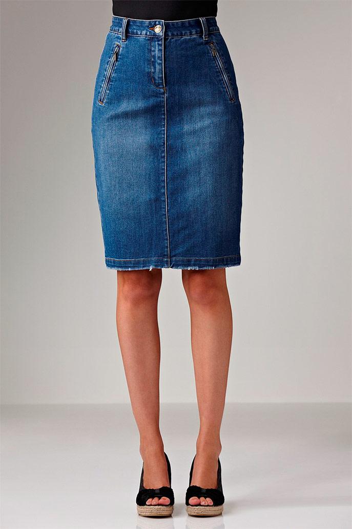 Быстро сшить юбку из джинсов