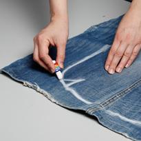 Дамская сумка из джинса  выкройка60