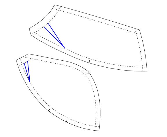 Как сшить бюстгальтер из кружева выкройка 32