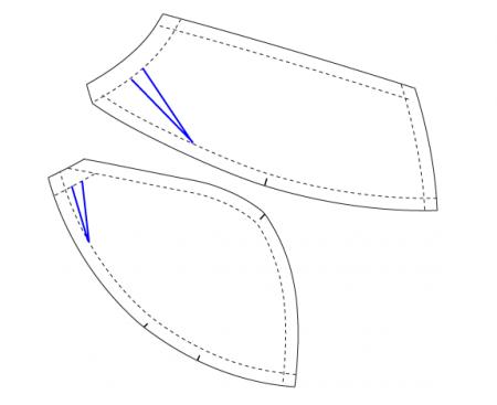 Как сделать выкройку для лифчика из кружева