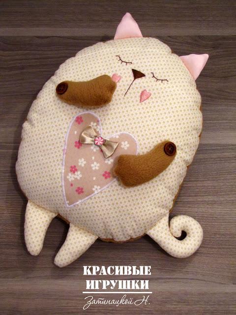 Подушка кот своими руками выкройка