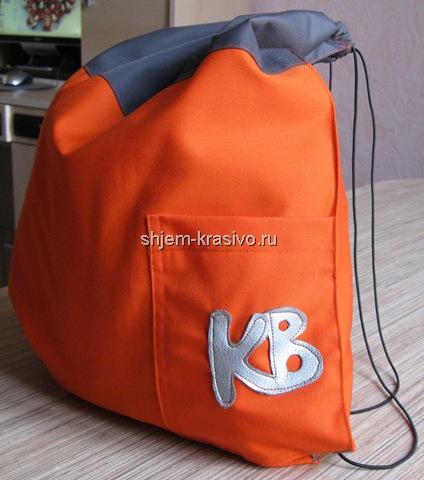 86ce87c2b1ef Спортивная сумка - мешок своими руками: выкройки мастер класс по кройке и  шитью
