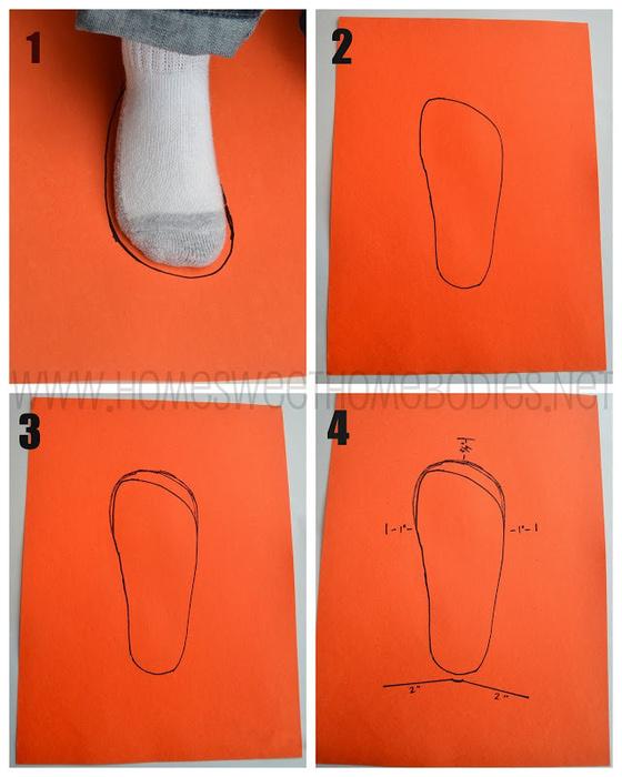 Тапочки из искусственного меха выкройка