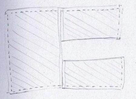 выкройка туники с цельнокроеным рукавом