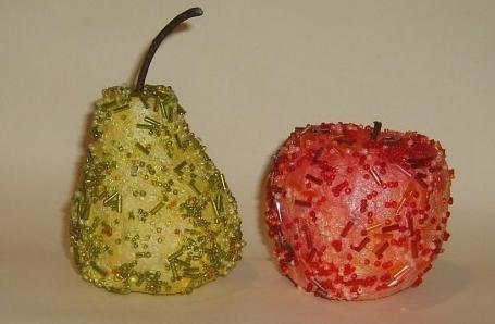 Изготовление яблока из папье
