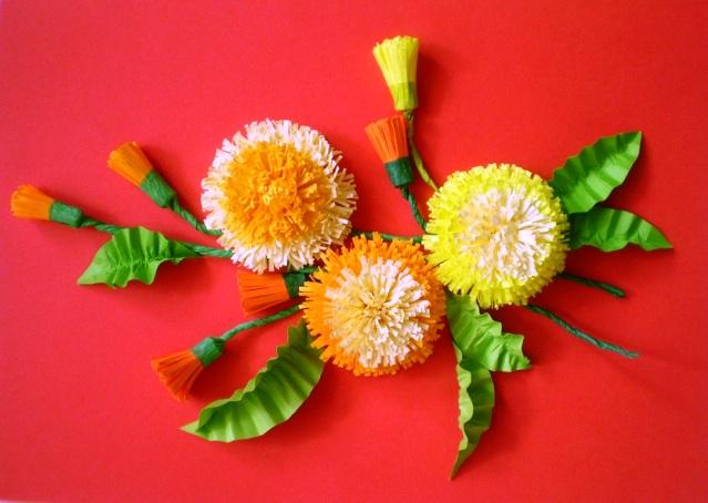 Бумажные цветы для