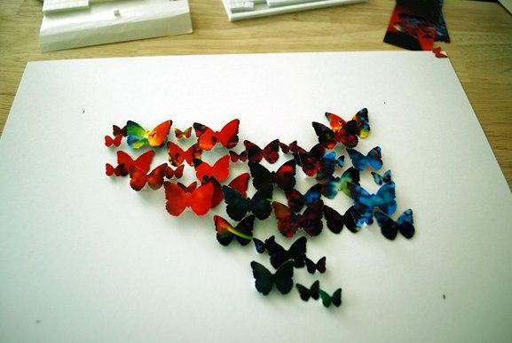Бабочки в рамке на стену своими руками 9