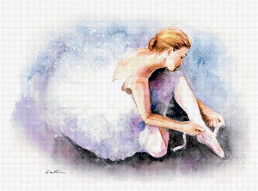 Скачать бесплатно вышивку крестом балерина