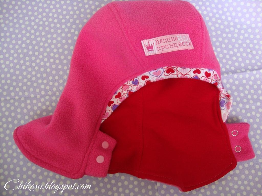 Как сшить шапку шлем из флиса для девочки 3