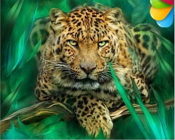 Вышивка крестом схема леопард фото 567