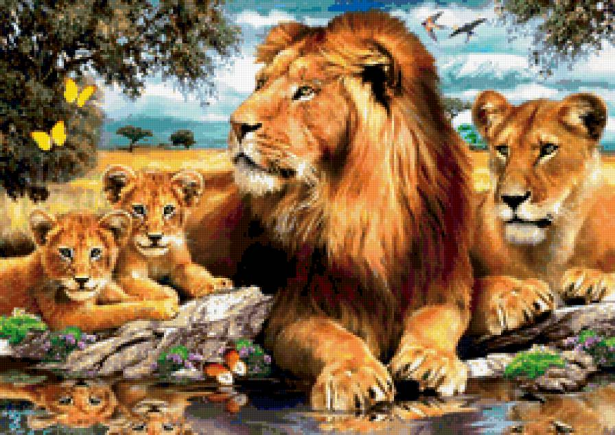Схемы львы вышивки крестом скачать бесплатно