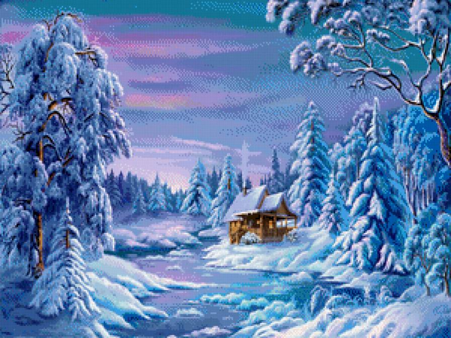 Зимние пейзажи вышивка крестом скачать бесплатно