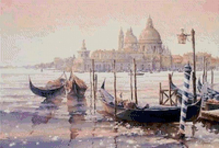 Схема вышивки крестом венеция