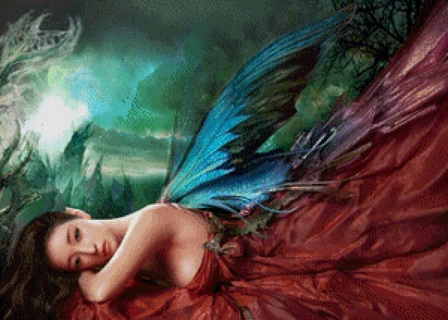 Схема вышивки крестом волшебная фея