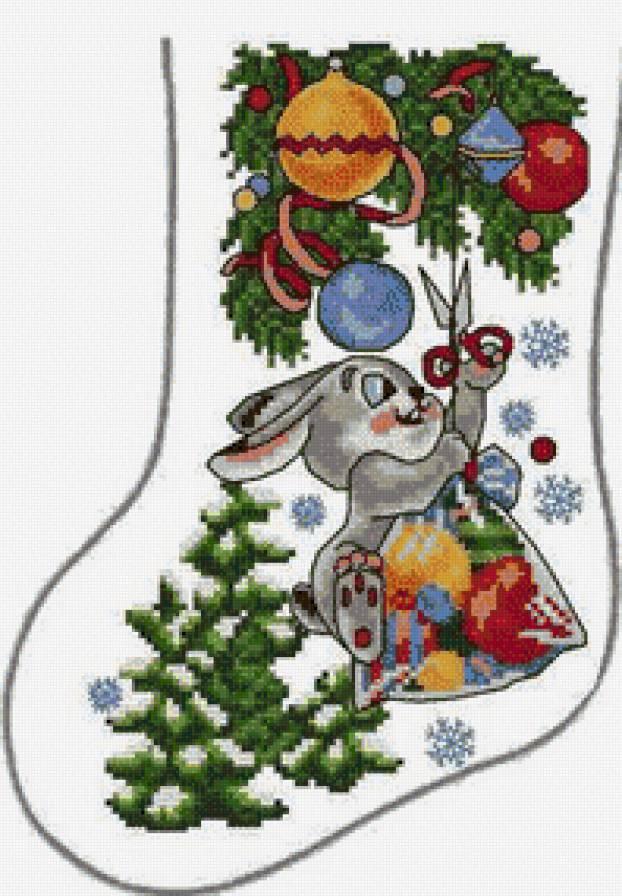 Рождественская вышивка крестом скачать схему бесплатно