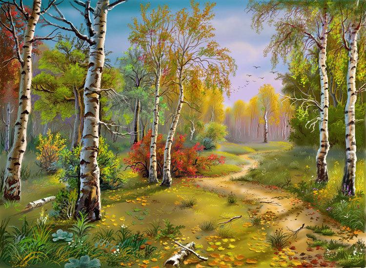 Схемы вышивки пейзажи