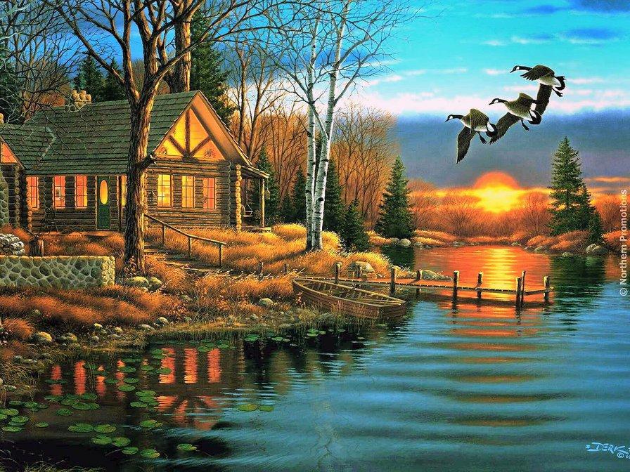 магазинов России домики у озера месяц над домами стихи использование природных