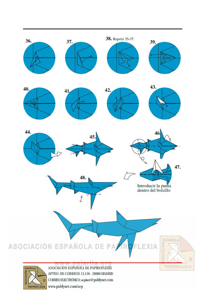 Сделать акулу из бумаги своими руками 57