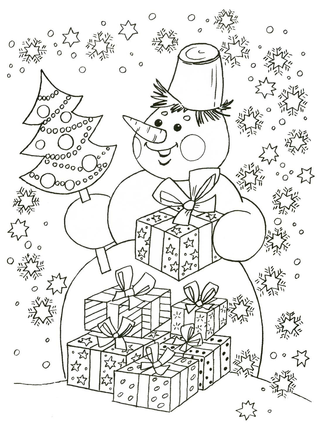 """Раскраски """"картинка снеговик для детей"""" скачать и ..."""