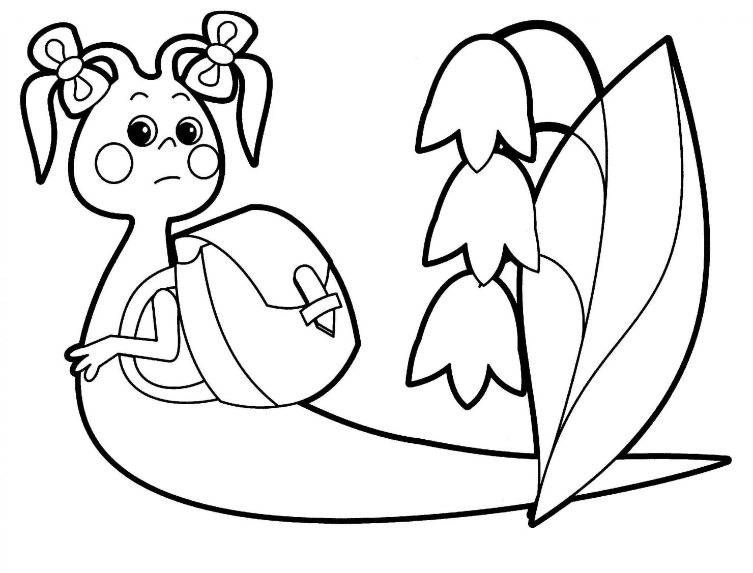 Улитка раскраска для малышей - 7