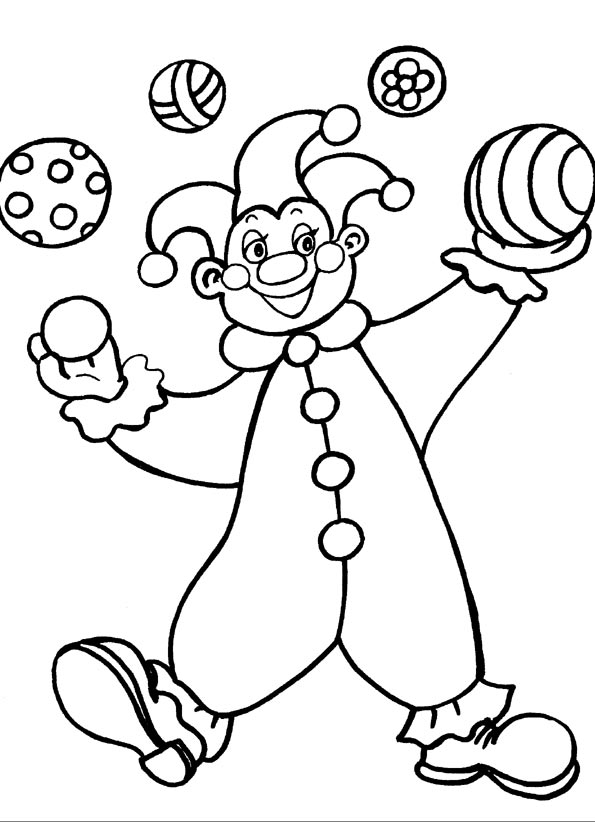 Клоун раскраски для детей