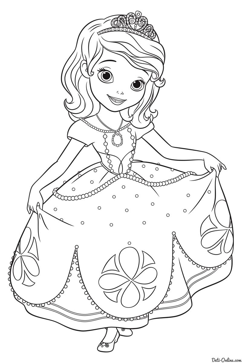 Раскраски с принцессами печатать