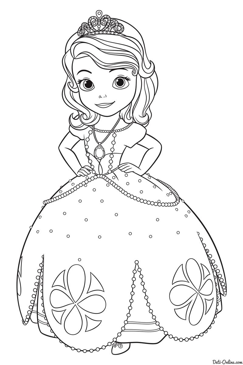 Принцесса софия раскраска для детей