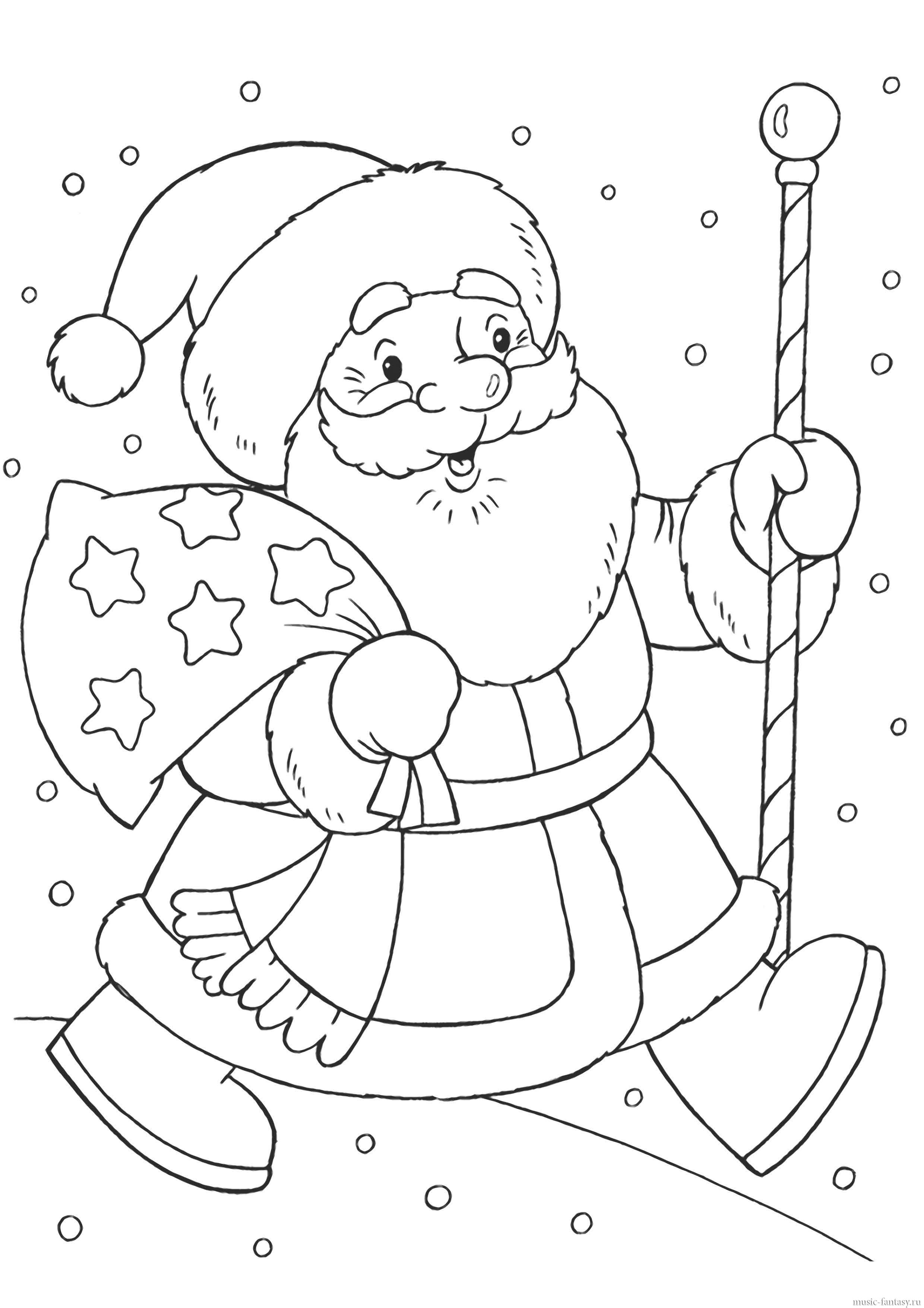 19. Альбом для выкладывания рисунков и раскрасок с Дедом Морозом, Снегурочкой, новогодними сюжетами.