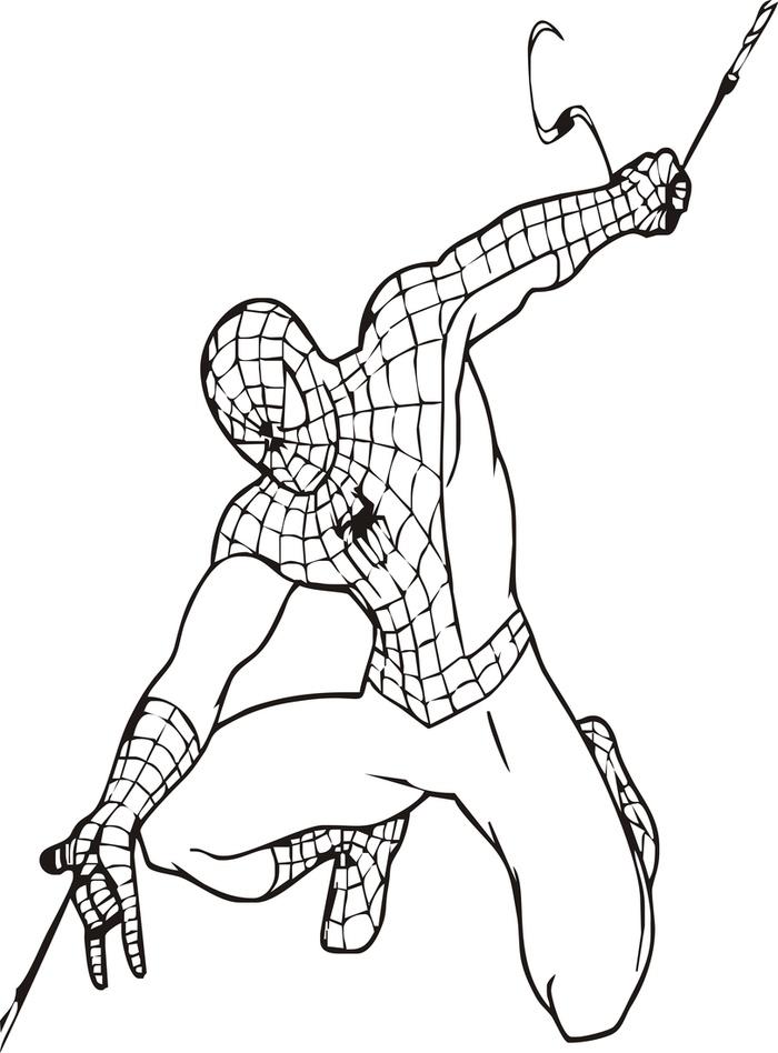 """Раскраски """"человек паук"""""""