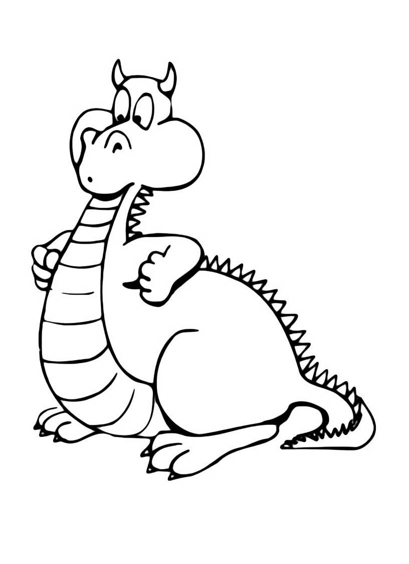 Раскраска дракон - 1