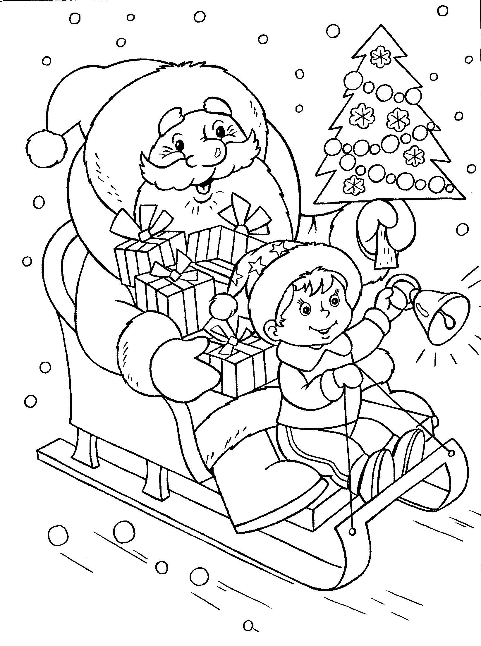 """Раскраски """"новый год"""" скачать и распечатать бесплатно"""