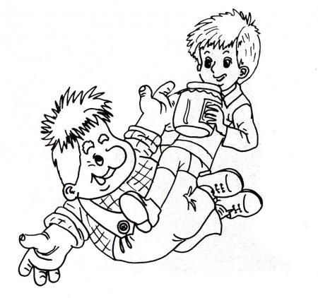 """Раскраски """"малыш и карлсон картинки"""" скачать и распечатать ..."""