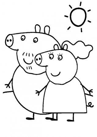 """Раскраски """"свинка пеппа для девочек """" скачать и ..."""