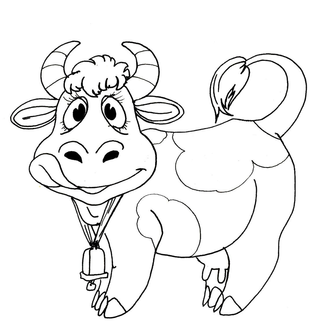 Раскраска коровка
