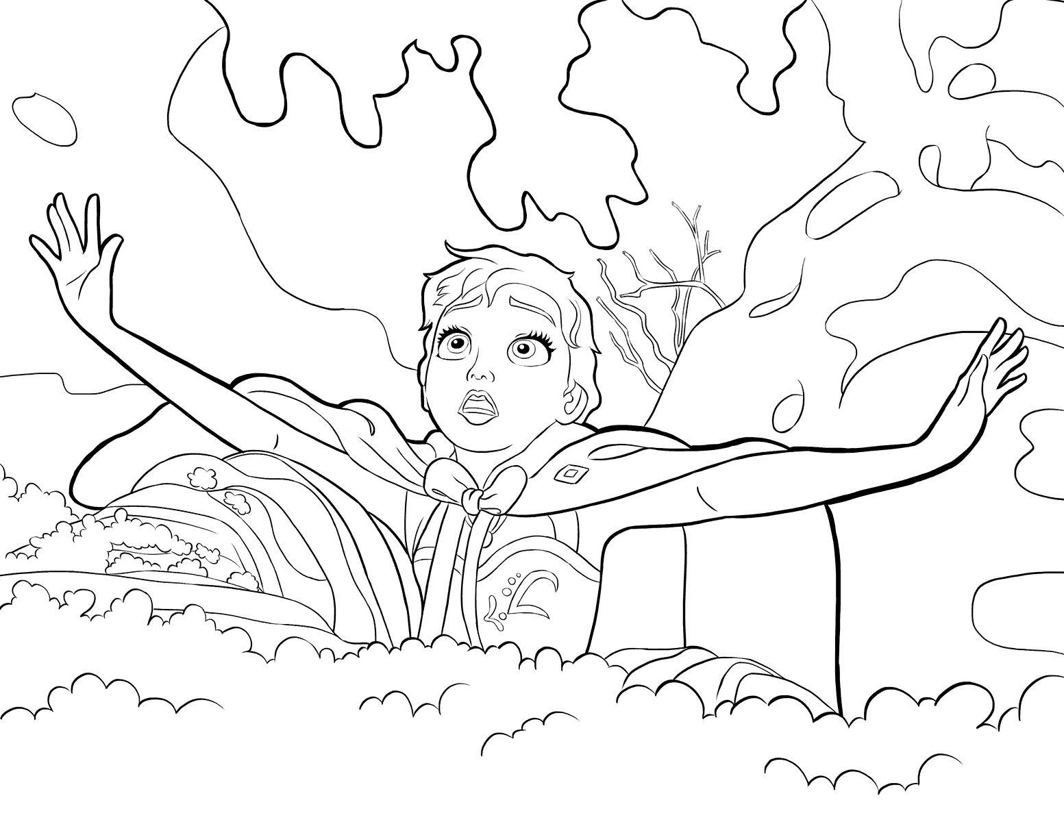 """Раскраски """"холодное сердце Эльза и Анна"""" скачать и ..."""