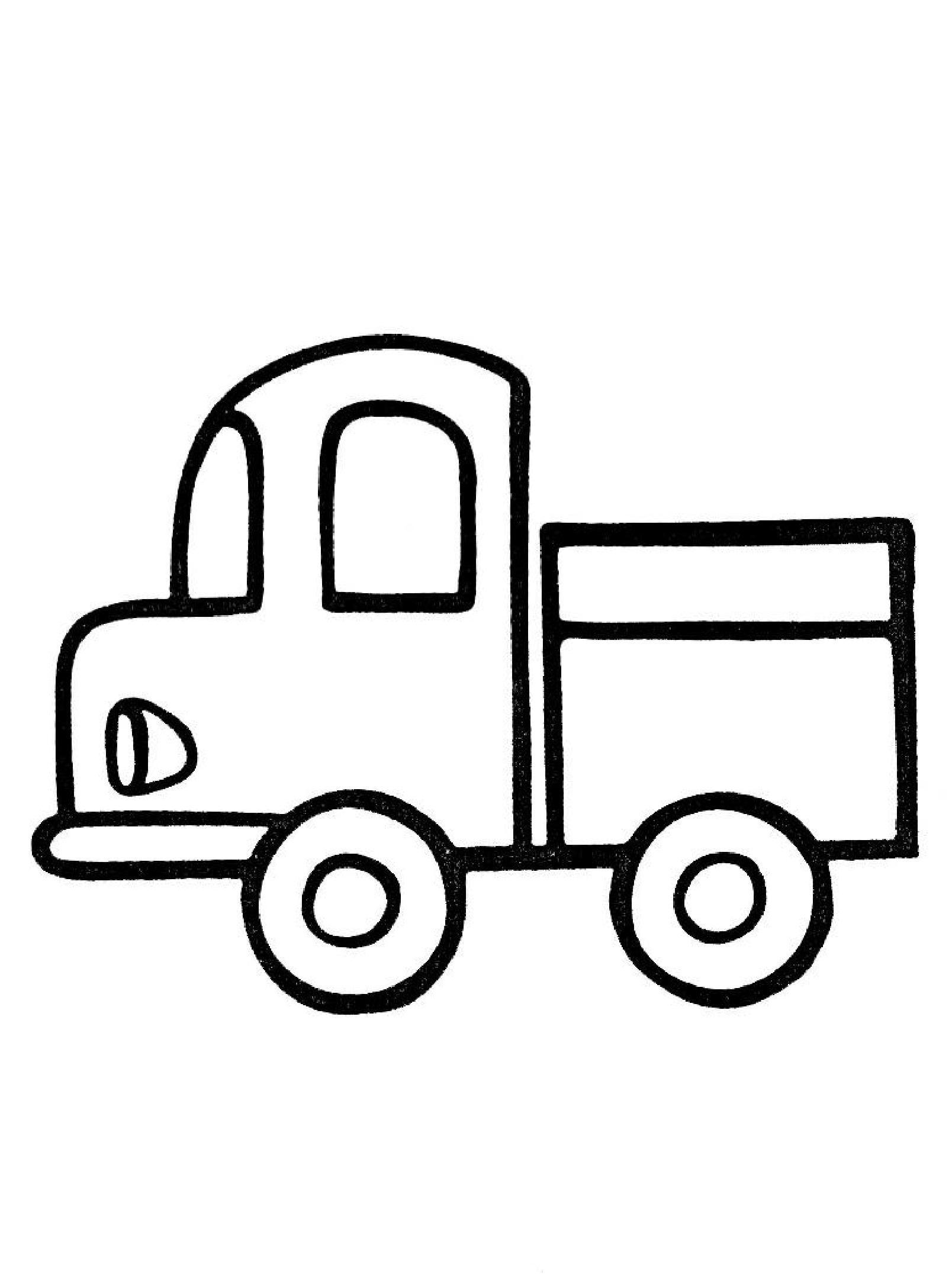 детские грузовики раскраски