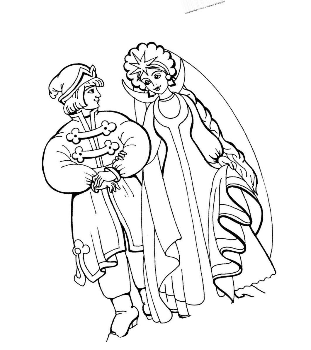 Картинки из сказок пушкина раскраски распечатать