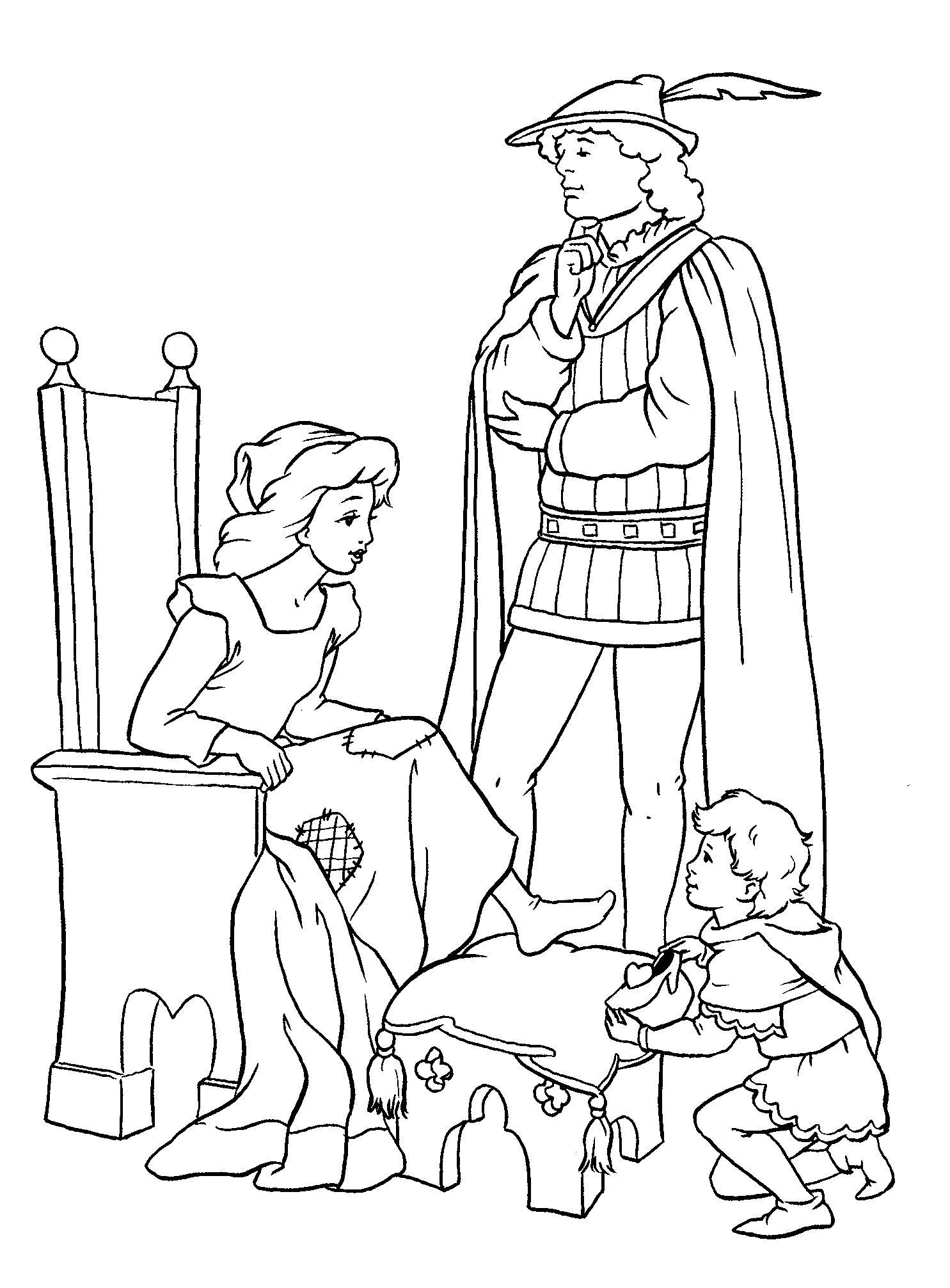 Иллюстрации к сказкам пушкина раскраски