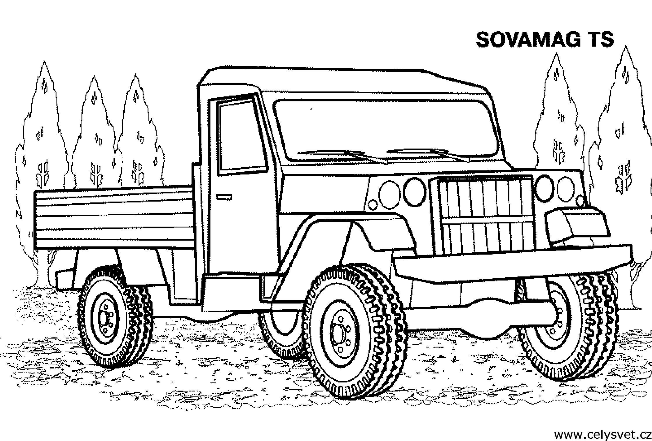 Машинки раскраски для мальчиков грузовики