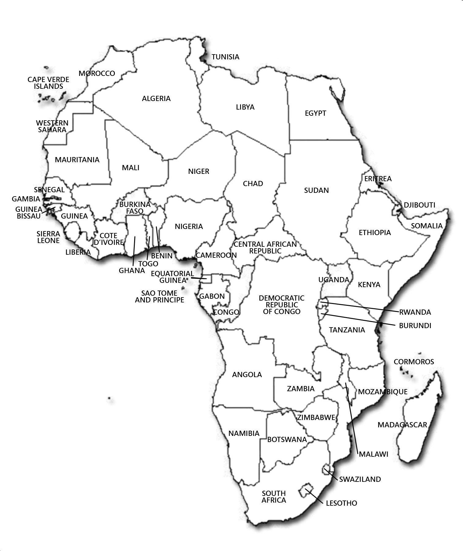 Western Africa Map Identification Worksheet Free to - mandegar.info