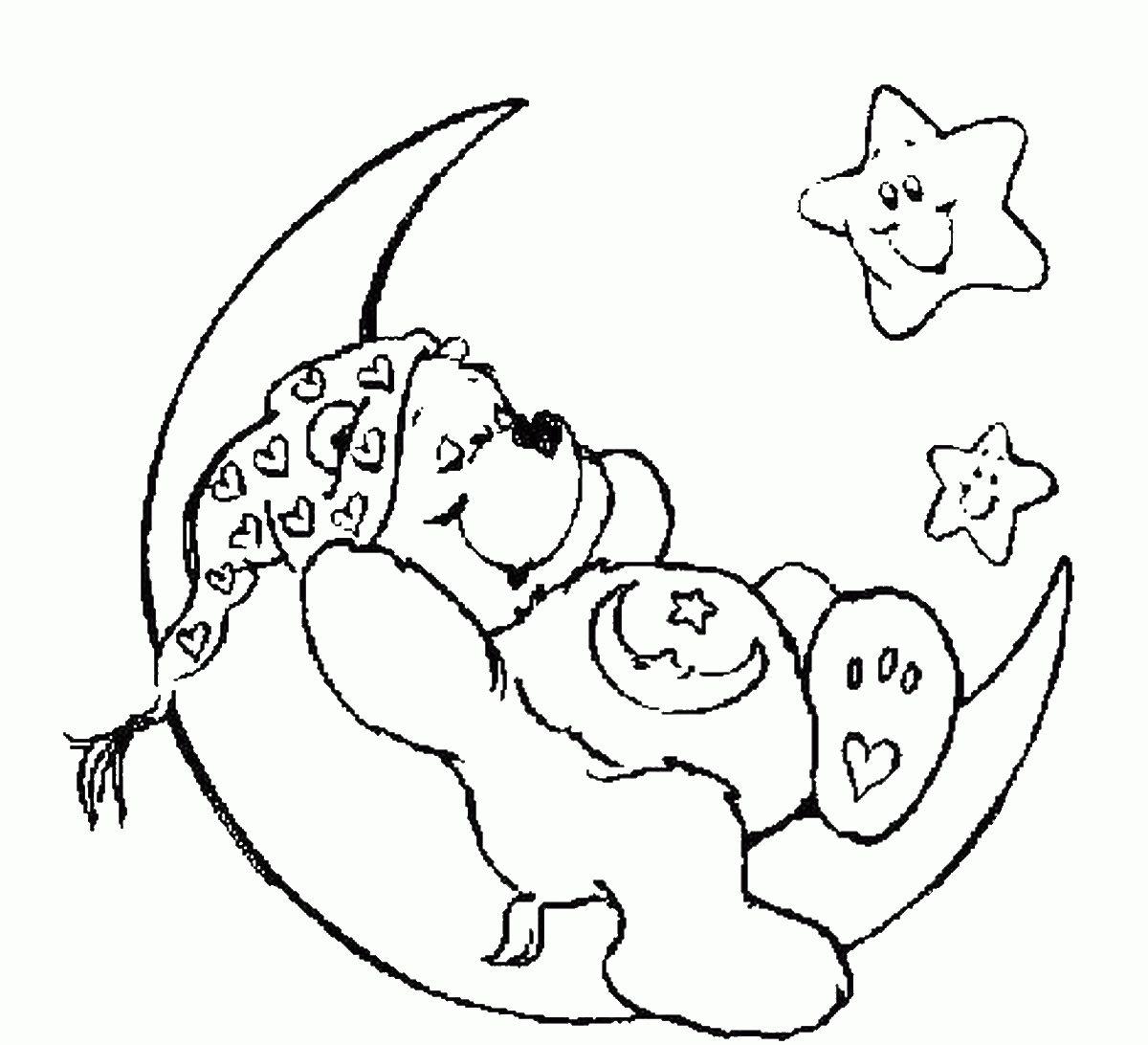 Спать рисунок раскраска 193