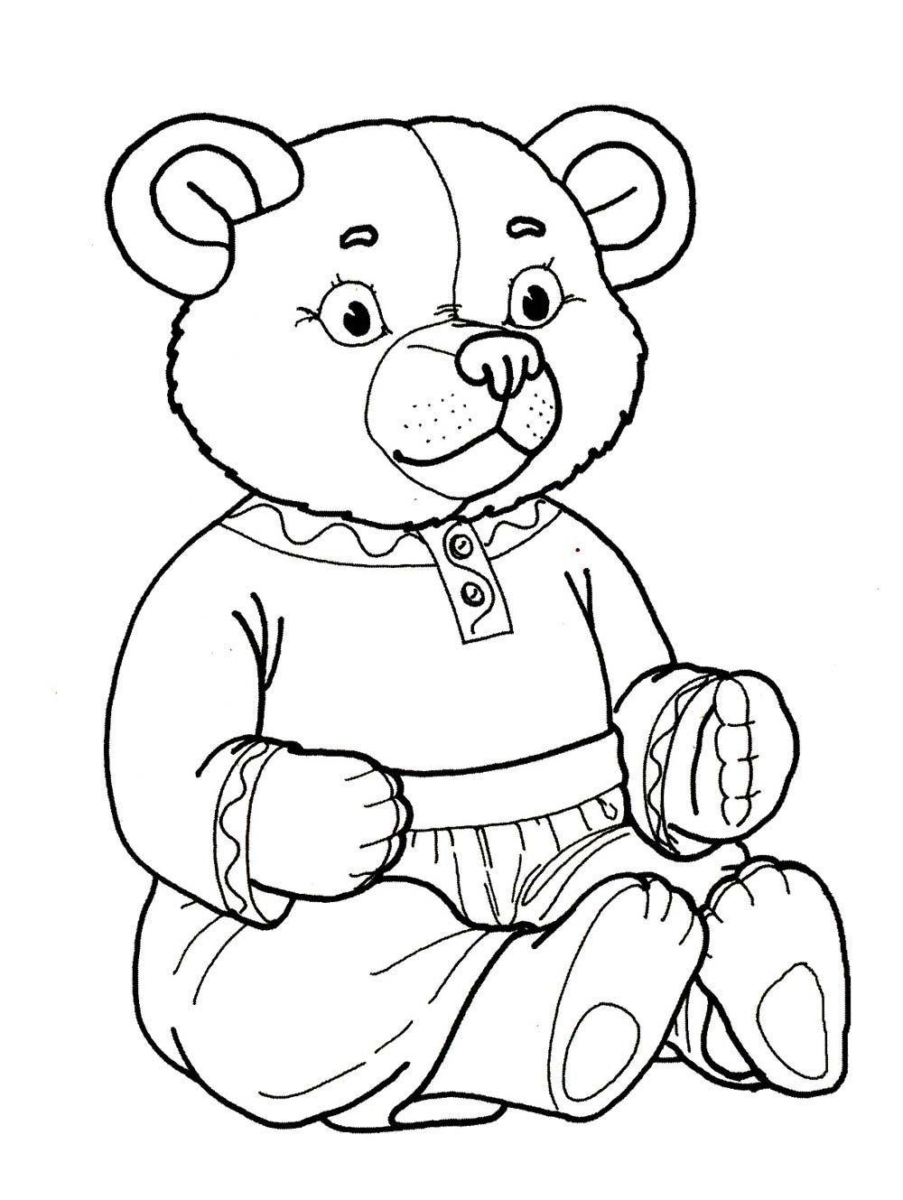 Раскраски для детей медведь - 6