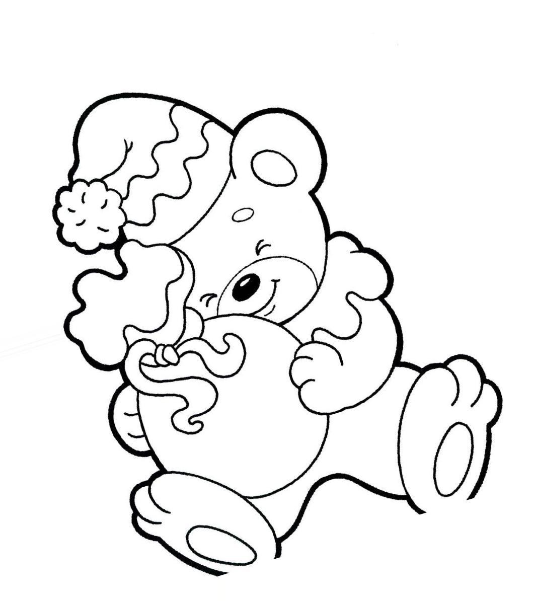 """Раскраски """"медвежонок"""" скачать и распечатать бесплатно"""