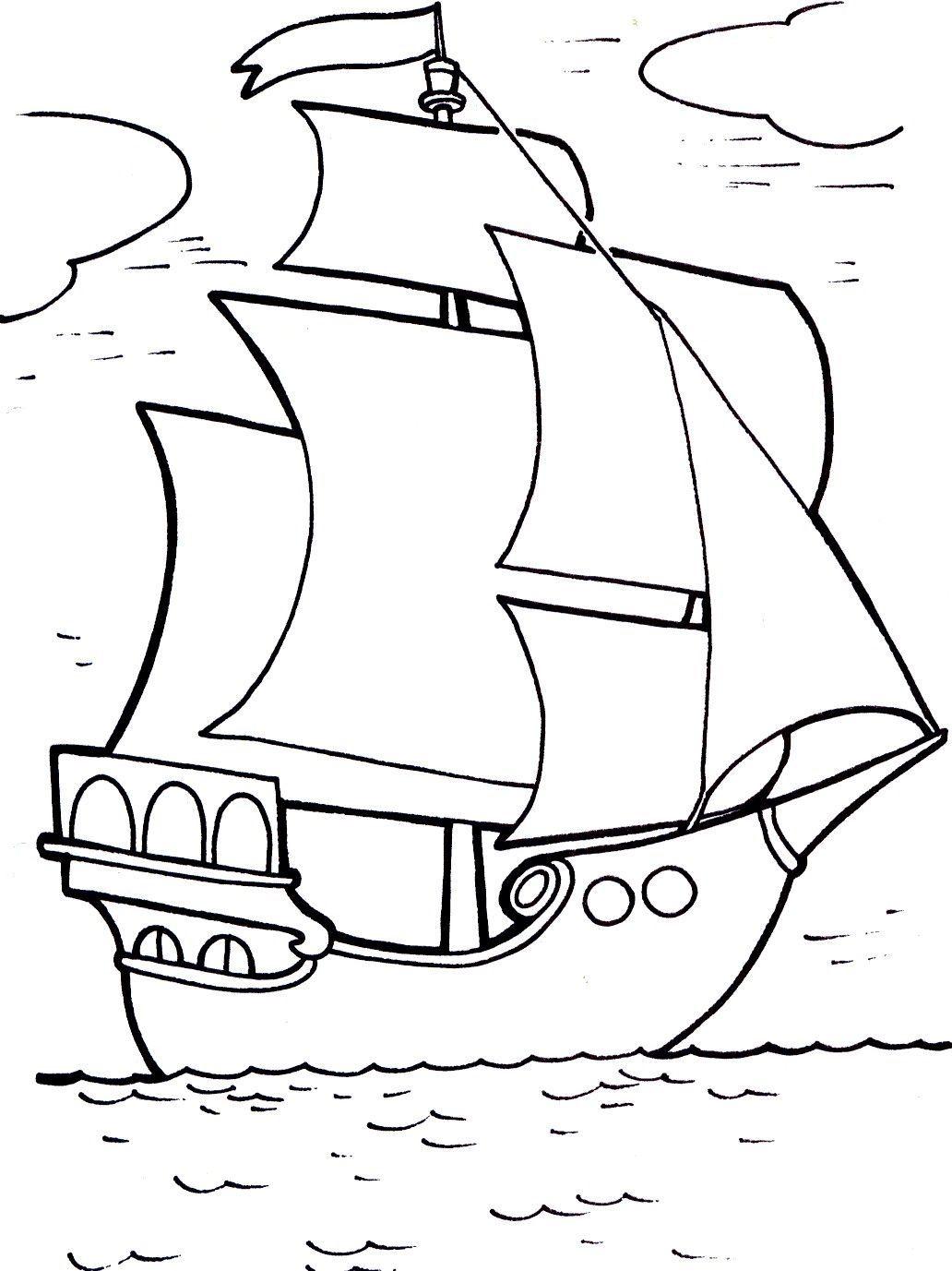 """Раскраски """"кораблик"""" скачать и распечатать бесплатно"""