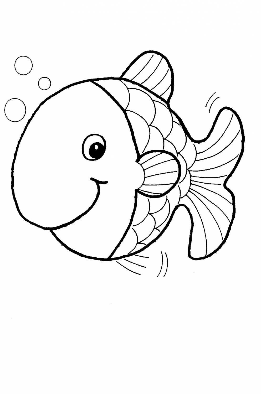 Рыба раскраска для малышей - 2