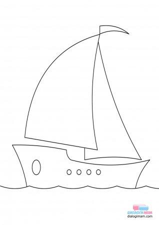 Кораблик раскраска распечатать
