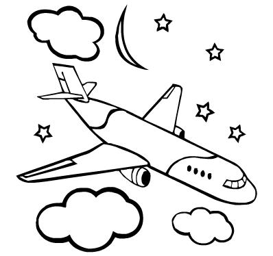 """Раскраски """"самолеты"""" онлайн"""
