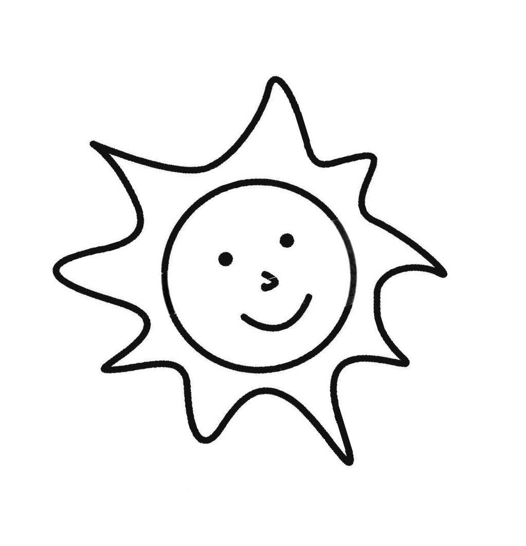 """Раскраски """"солнышко с лучиками и улыбкой"""" скачать и ..."""