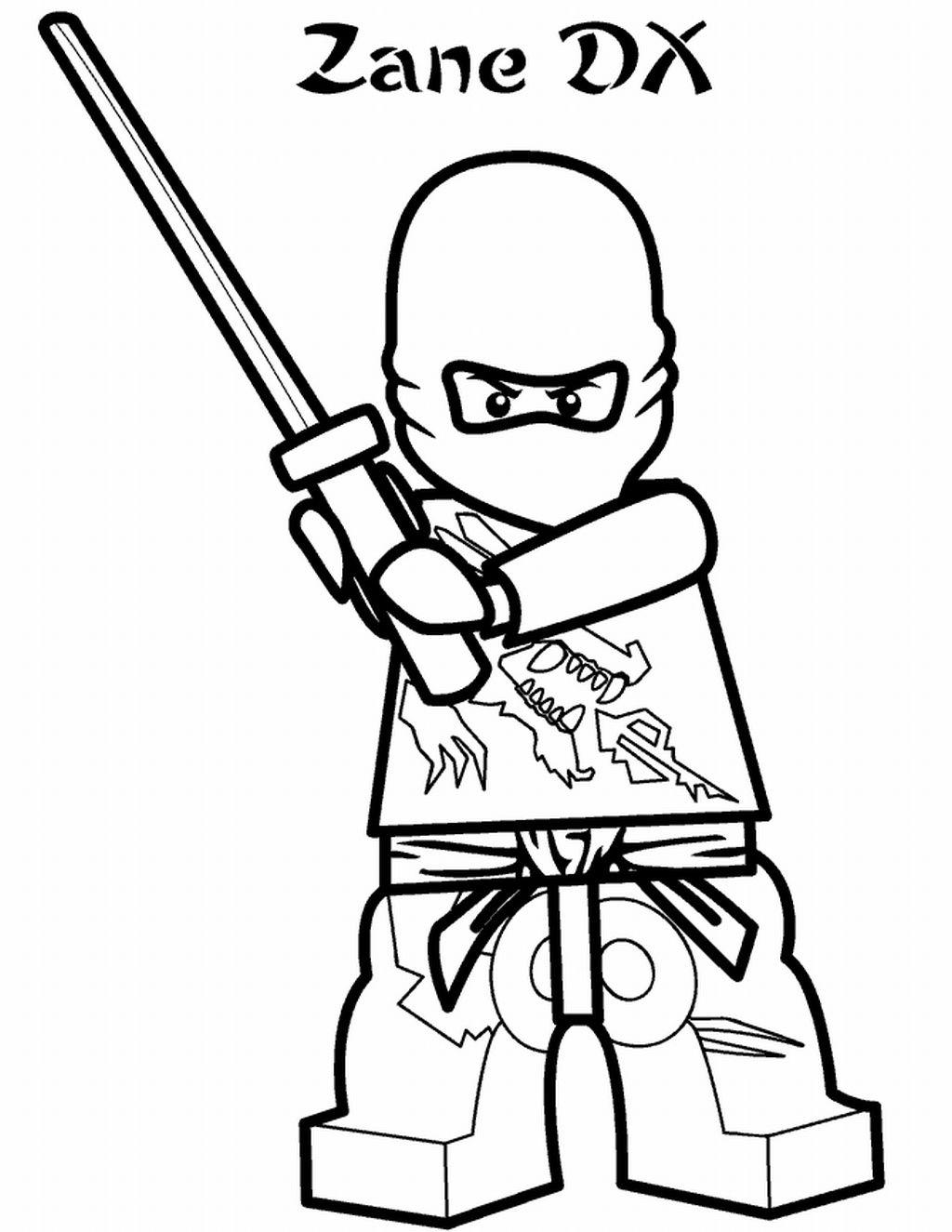 Раскраска ниндзяго мастера кружитцу